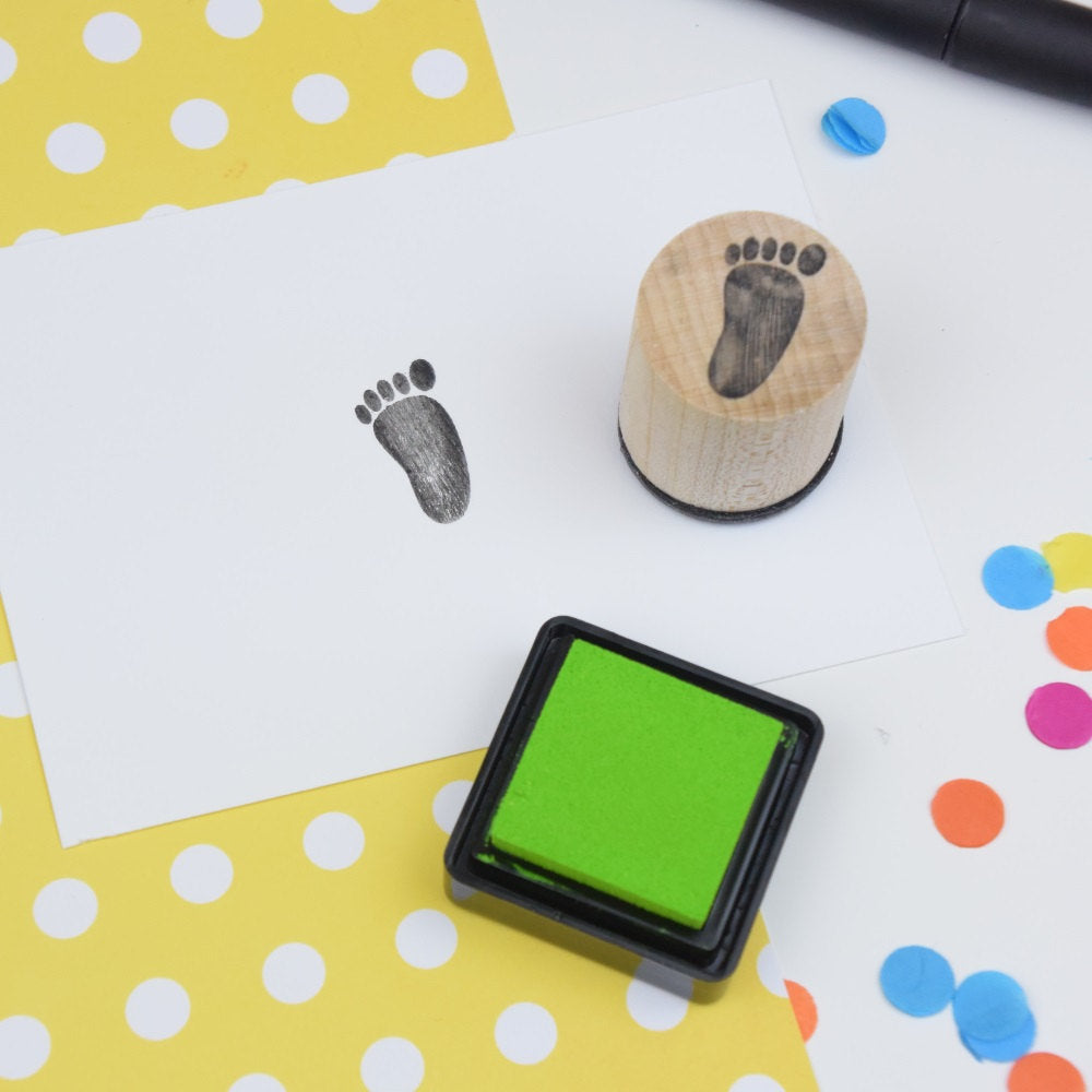 Baby Footprint Mini Rubber Stamp