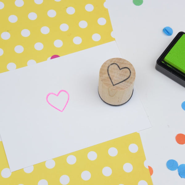 Heart Outline Mini Rubber Stamp