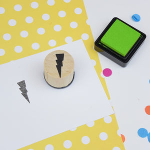 Lightning Bolt Mini Rubber Stamp