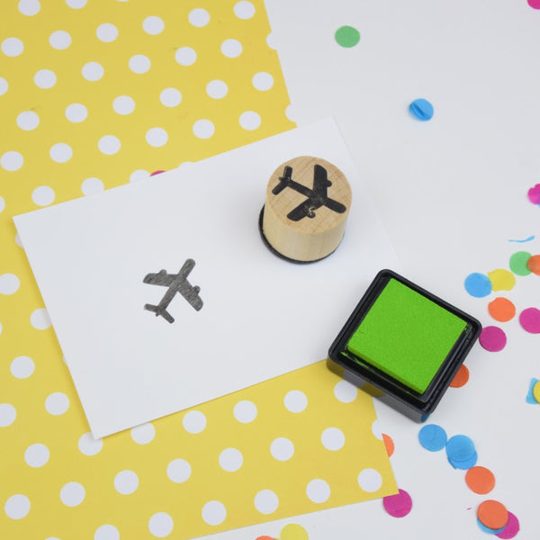 Plane Mini Rubber Stamp