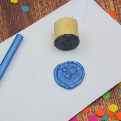 Trio of Hearts Wax Seal Stamp