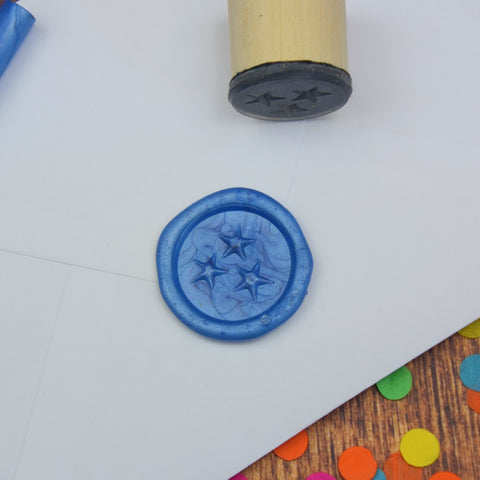 Trio of Stars Wax Seal Stamp
