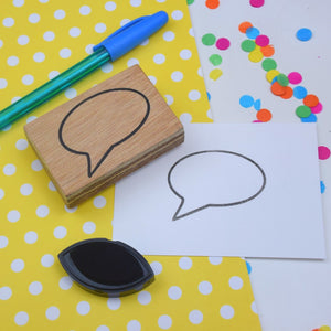 Speech Bubble Rubber Planner Stamp
