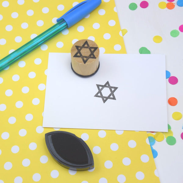 Star of David Mini Religious Symbol Rubber Stamp