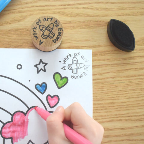 Personalised Kids Artwork Stamp