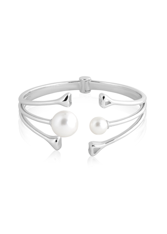 Mixed pearl hinged cuff