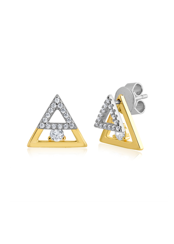 Gold Layered Triangle Posts