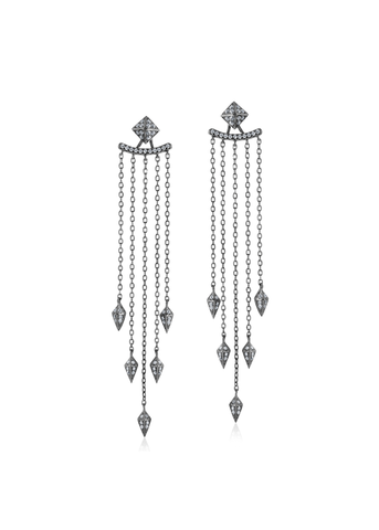 Silver Tassel Drop Earring