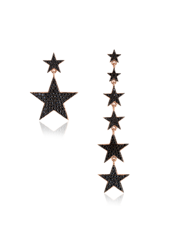 Asymmetric Star Drop Earring