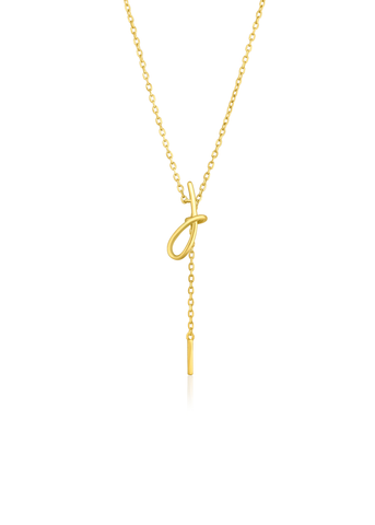 Gold bow pendant necklace