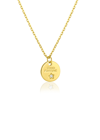 Good Fortune gold necklace