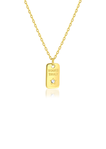 Your truly gold necklace