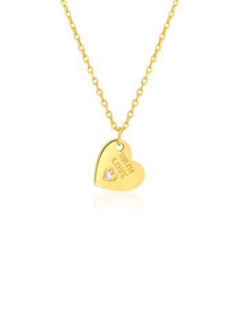 With love gold necklace