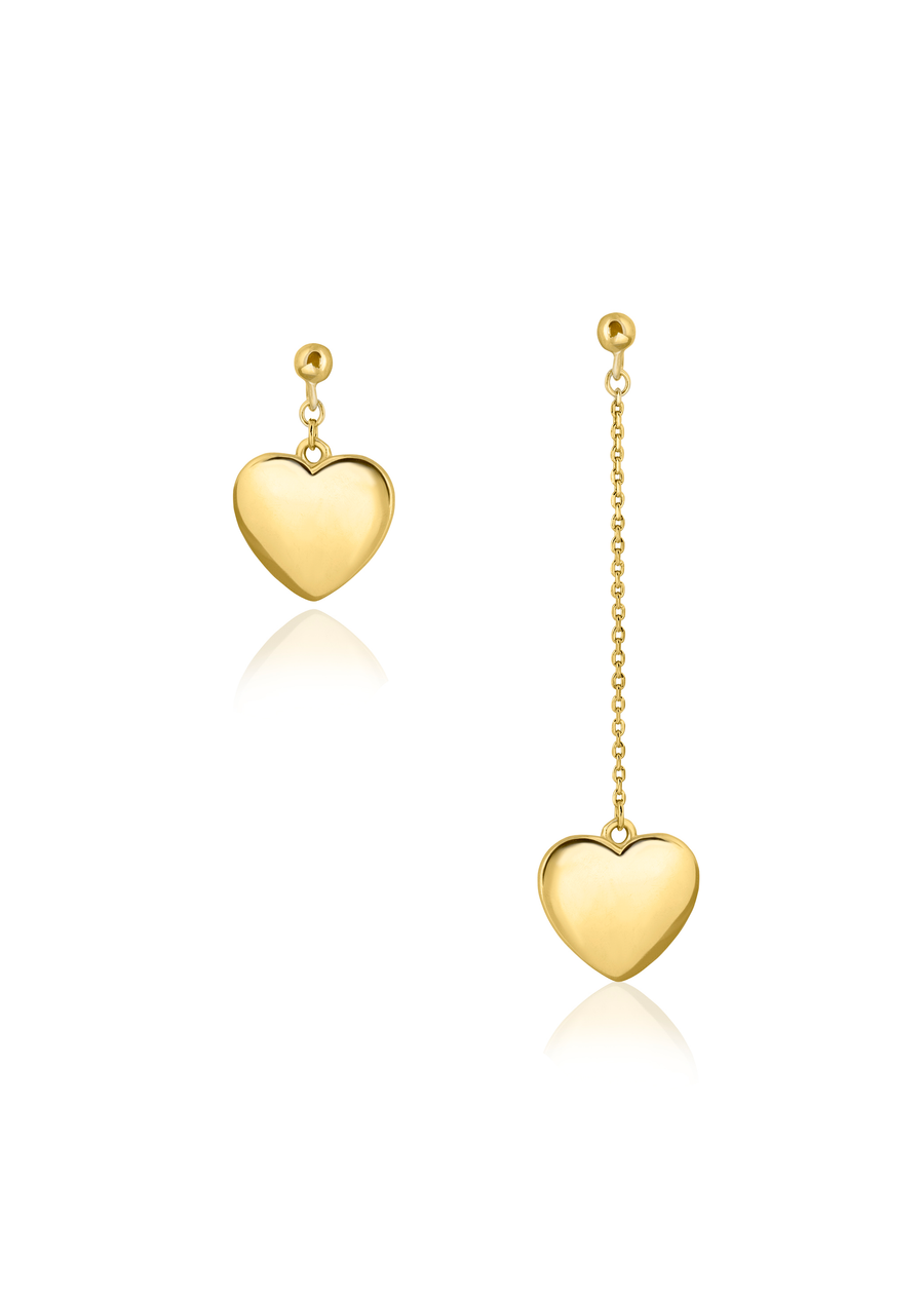 Asymmetric Heart Statement Drop Earring