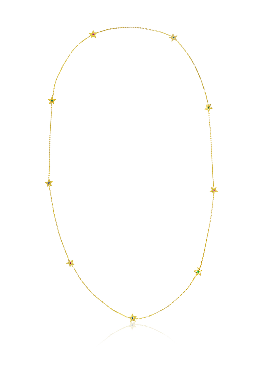 Gold Colored Stars Necklace