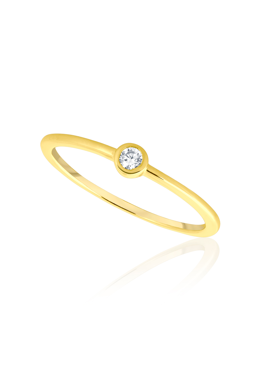 Gold Bezel Set Ring