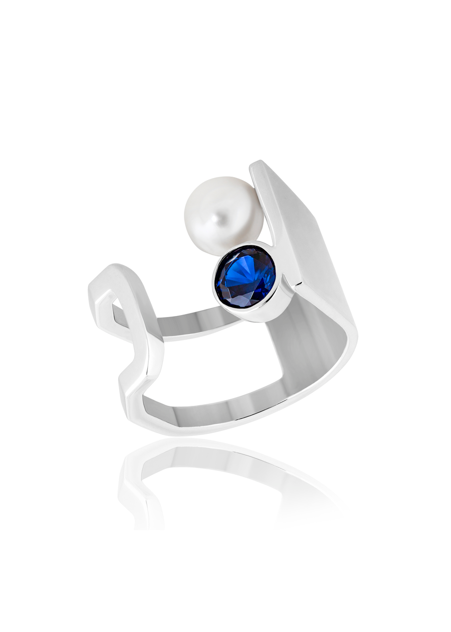 Blue Stone Pearl Future Ring