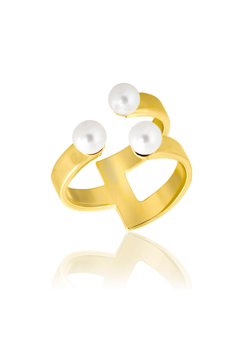 1:2 Pearl ring