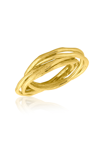 Gold interlocking ring