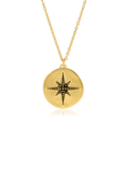 Disc star pendant necklace