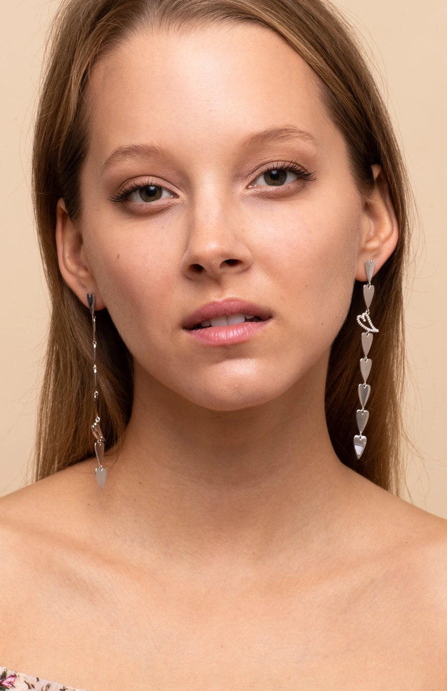 Heart Statement Drop Earrings