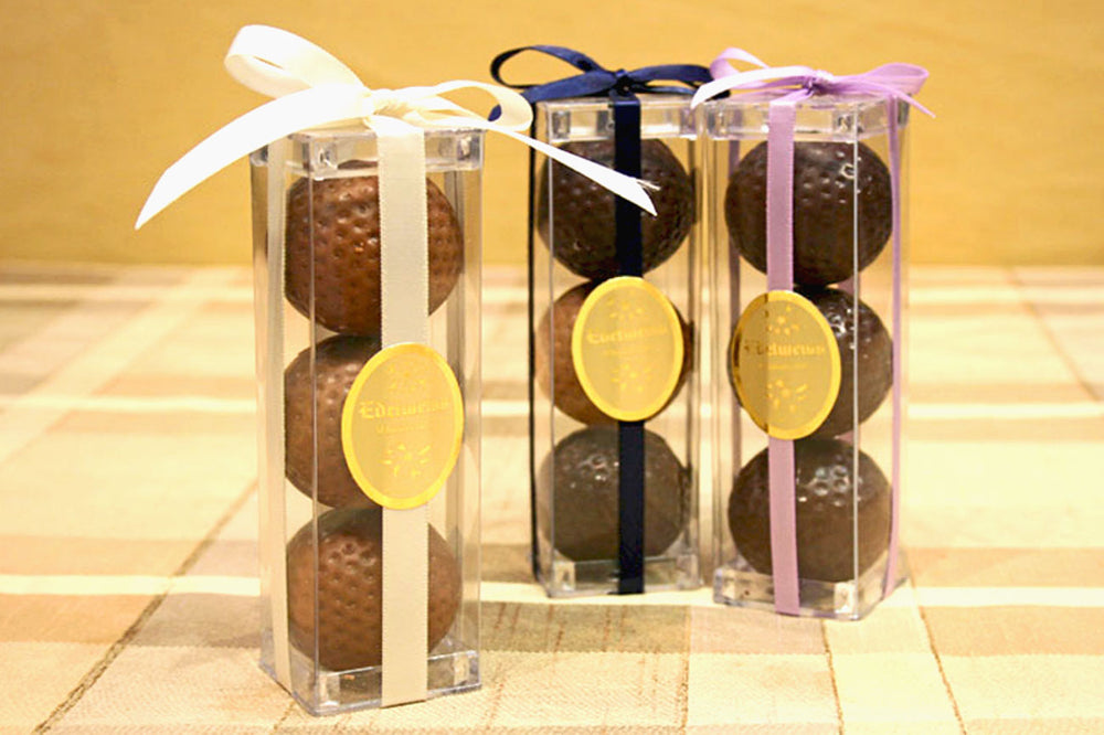 Chocolate Golf Balls - Edelweiss Chocolates Gourmet Premium Milk Dark Chocolate Gift Los Angeles Beverly Hills Handmade Handcrafted Candy
