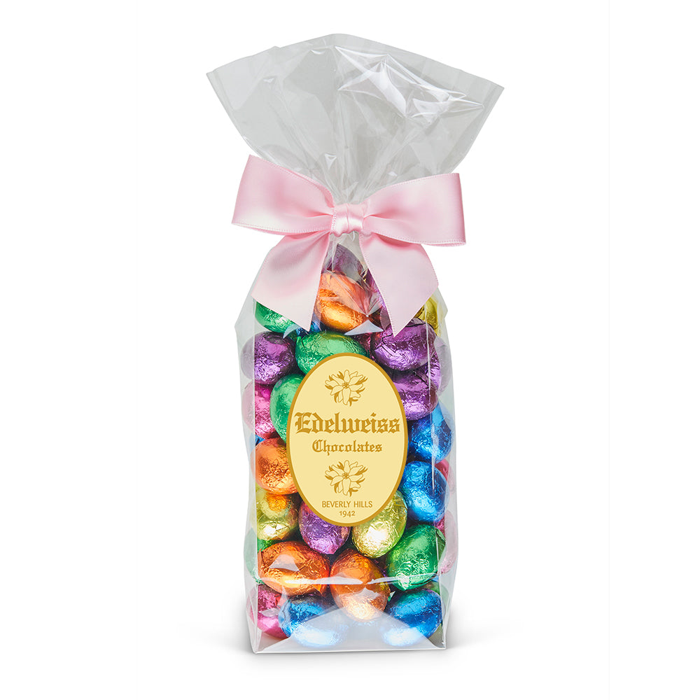 Dark Chocolate Easter Foiled Eggs - Edelweiss Chocolates