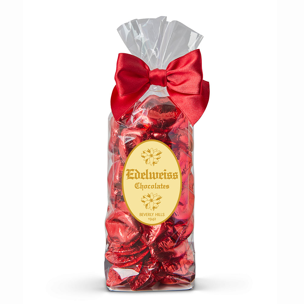 Milk Chocolate Red Foiled Lips - Edelweiss Chocolates