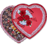 Red Satin Heart (7-8 lb) - Edelweiss Chocolates