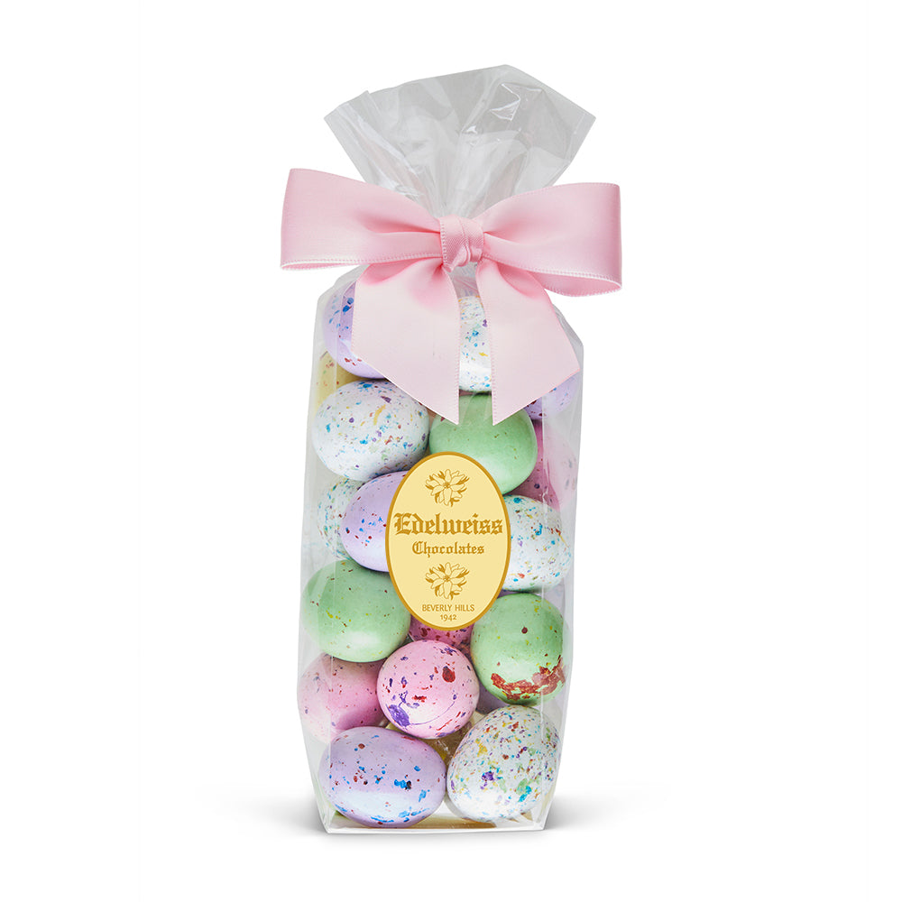 Easter Malt Ball Speckled Egg - Edelweiss Chocolates Gourmet Premium Milk Dark Chocolate Gift Los Angeles Beverly Hills Handmade Handcrafted Candy