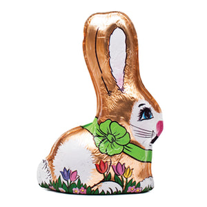 Milk Chocolate Foiled Bunny (8oz) - Edelweiss Chocolates