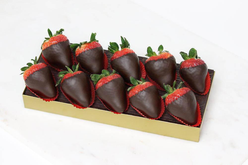 Chocolate Covered Strawberries 10 Piece Gift Box Edelweiss Chocolates