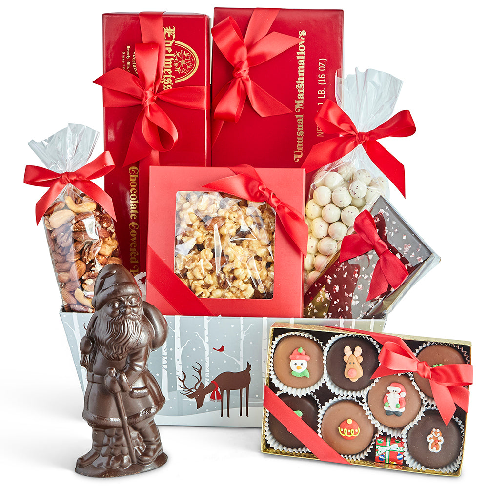Large Christmas Gift Basket - Edelweiss Chocolates
