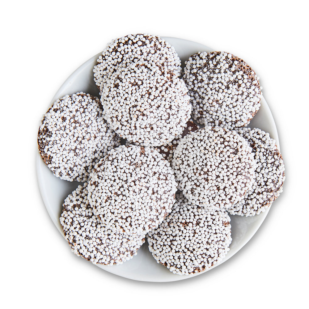 Dark Chocolate Nonpareils - Edelweiss Chocolates