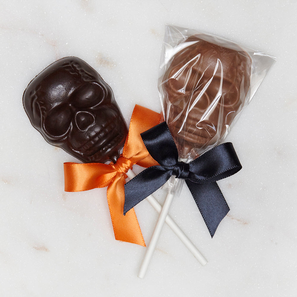 Gourmet Halloween Candy Handmade in Los Angeles Beverly Hills Skull Pops Lolly