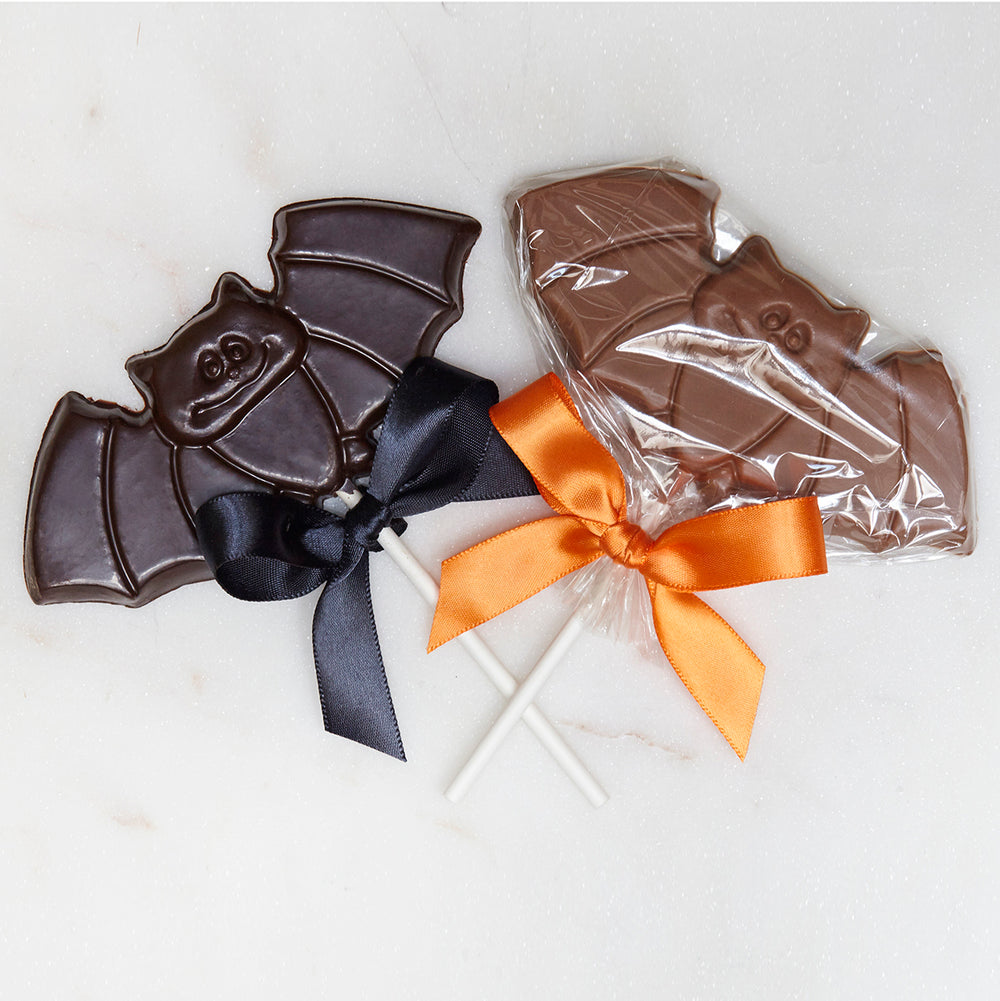 Halloween Chocolate Bat Pops - Edelweiss Chocolates