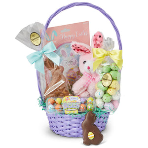 Easter Gift Basket - Edelweiss Chocolates Gourmet Premium Milk Dark Chocolate Gift Los Angeles Beverly Hills Handmade Handcrafted Candy