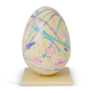 Handmade White Chocolate Speckled Easter Egg
