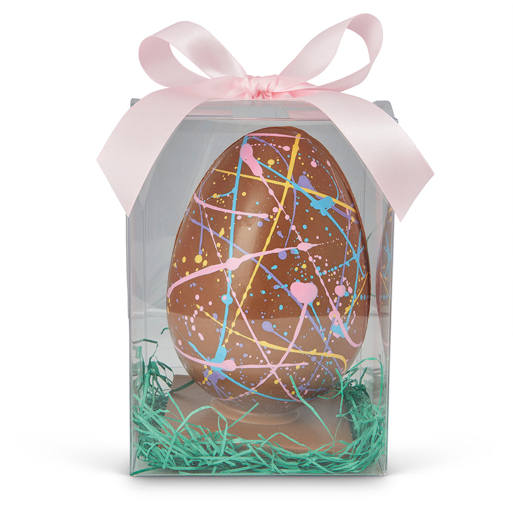 Handmade Milk Chocolate Speckled Easter Egg - Edelweiss Chocolates