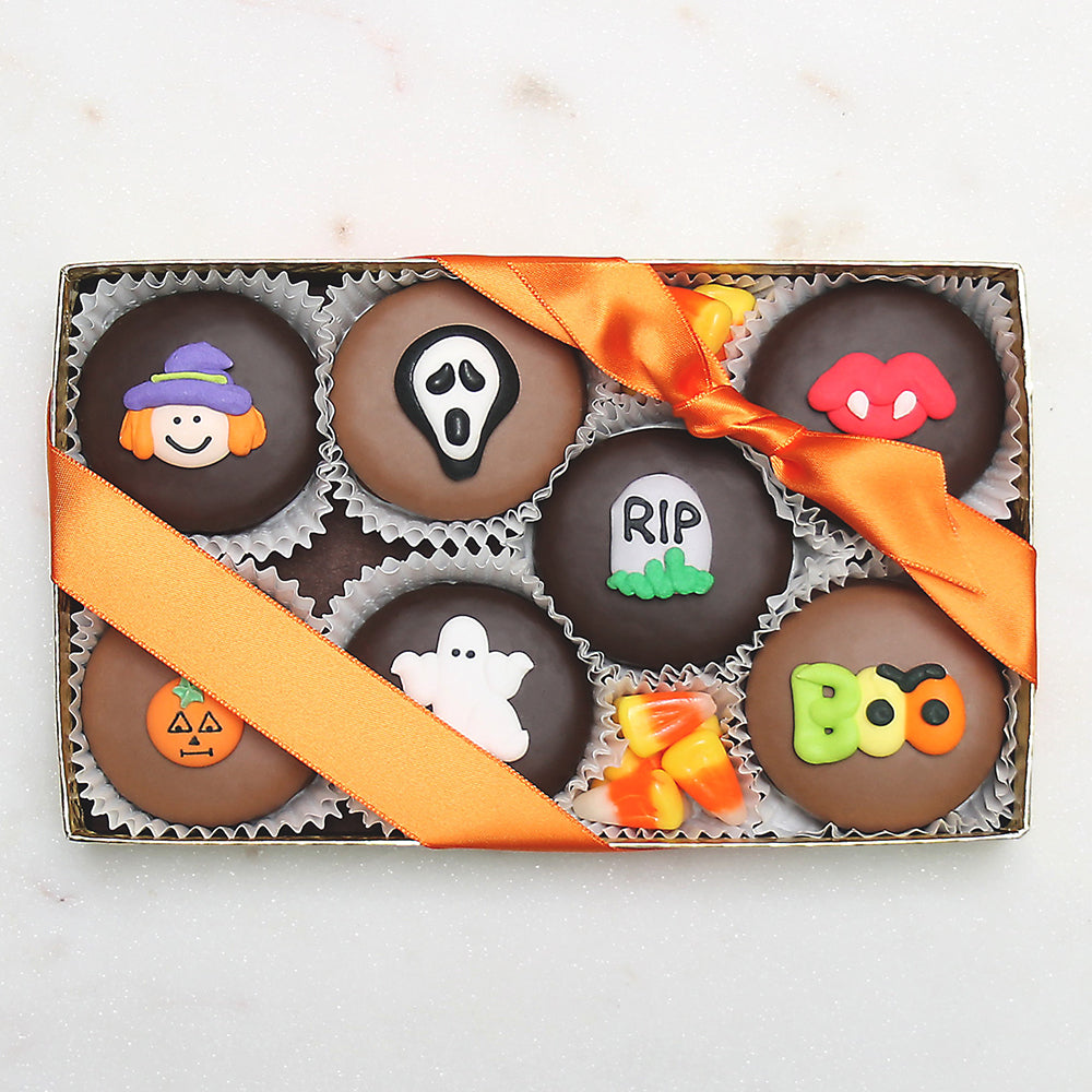 Gourmet Handmade Chocolate Halloween Oreos (Small) - Edelweiss Chocolates Gourmet Premium Milk Dark Chocolate Gift Los Angeles Beverly Hills Handmade Handcrafted Candy