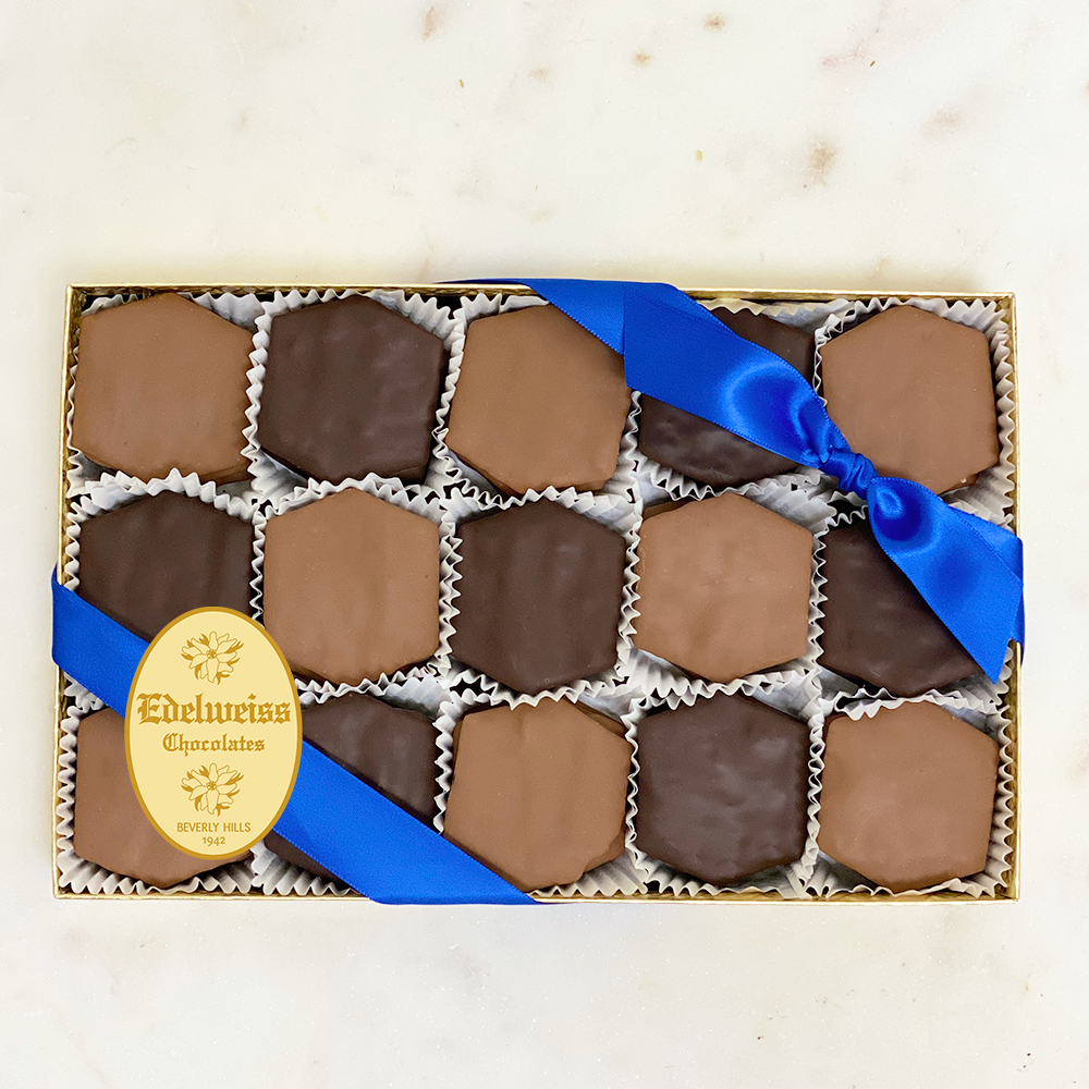 Chocolate Covered Matzah Crackers (Large Gift Box) - Edelweiss Chocolates