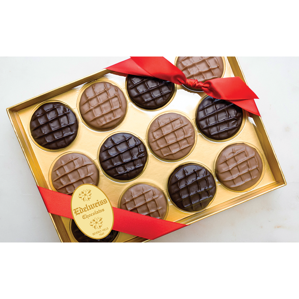 Gourmet Handmade Chocolate Oreos (12 Piece Gift Box) - Edelweiss Chocolates