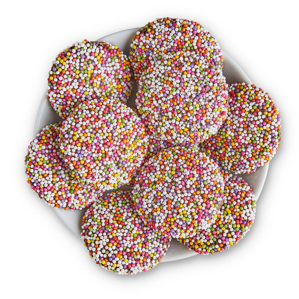 Milk Chocolate Nonpareils - Edelweiss Chocolates