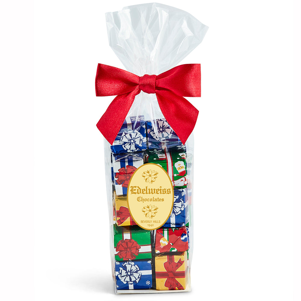 Milk Chocolate Foiled Presents - Edelweiss Chocolates