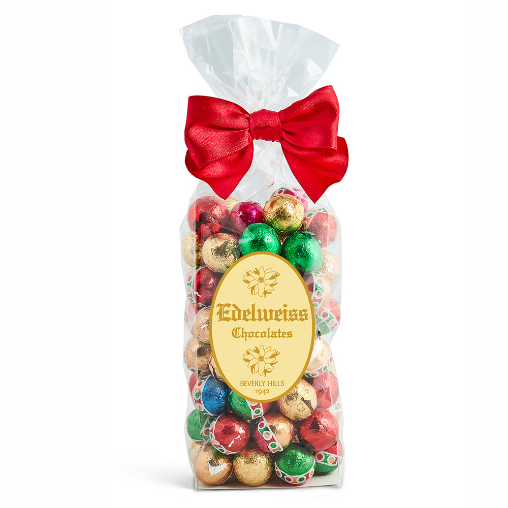 Milk Chocolate Foiled Ornaments - Edelweiss Chocolates