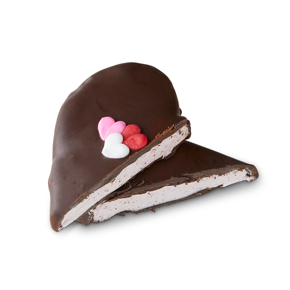 Chocolate Raspberry Marshmallow Hearts - Edelweiss Chocolates