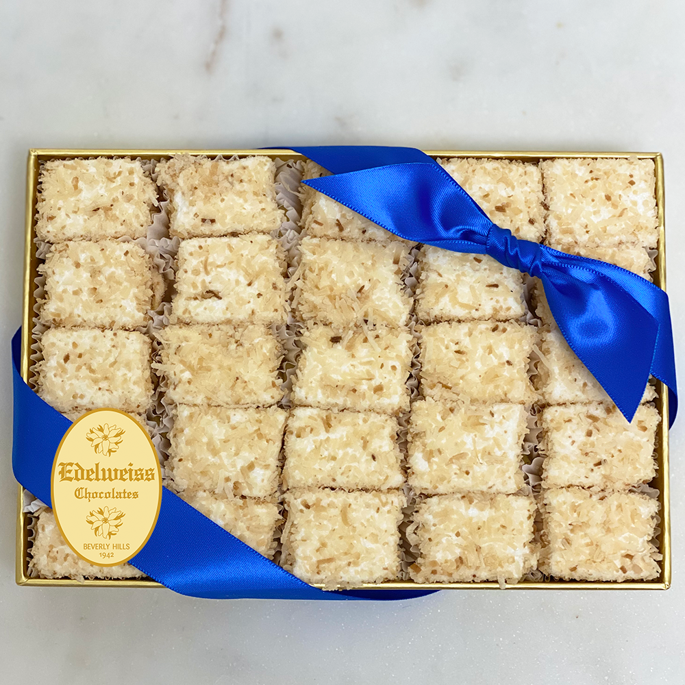 "Coconut Marshmallows ""Macaroons Style"" (Small Gift Box) - Edelweiss Chocolates"
