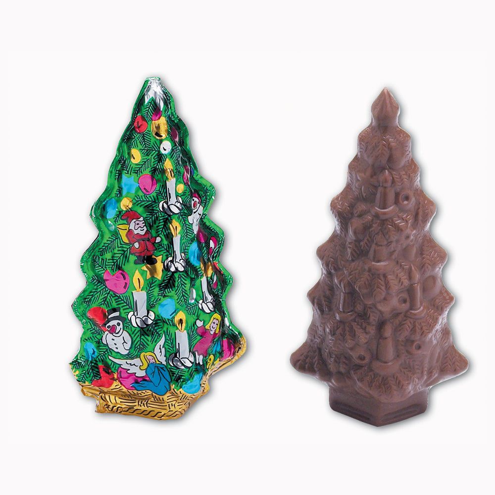 Foiled Gourmet Milk Chocolate Christmas Tree - Edelweiss Chocolates