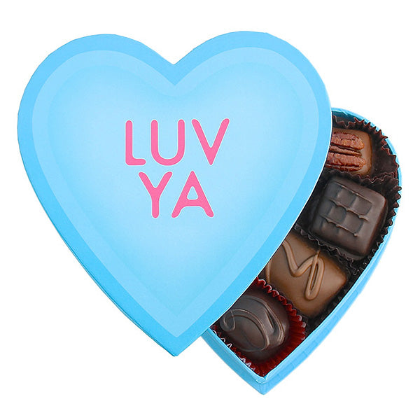 Blue Conversation Hearts (Luv ya) - Edelweiss Chocolates