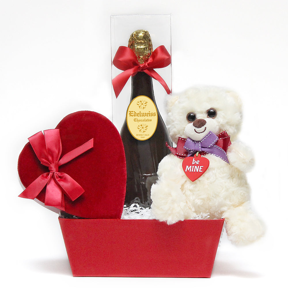 Valentines Day Gift Basket - Edelweiss Chocolates